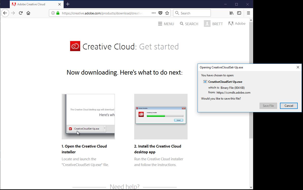 creative cloud desktop application download