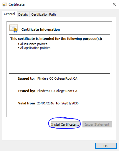 Install Certificate - image